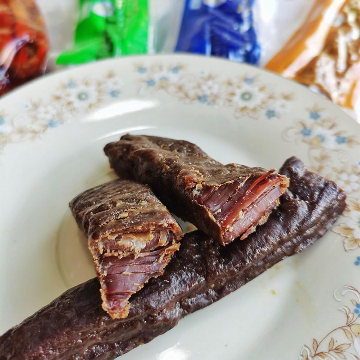 内蒙古半干牛肉干原味、香辣味、孜然味混装500g