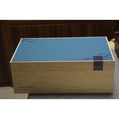 67_竹木精致茶叶礼盒(内附2个精致铁罐儿)蓝色/浅绿/红色 个人/企业首选亲民礼盒